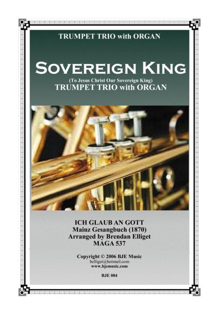 Sovereign King - Trumpet Trio with Organ  Score and Parts PDF