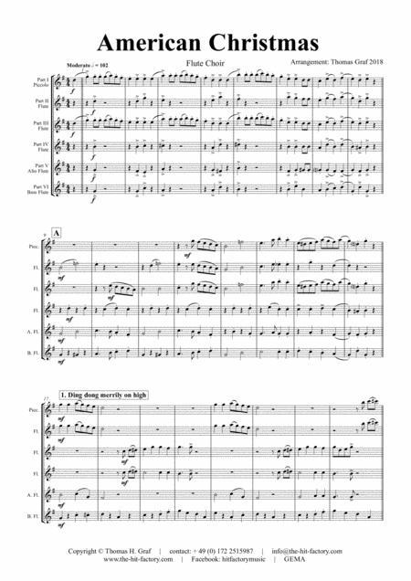 American Christmas - Mash up Rondo of best Christmas Songs - Flute Choir
