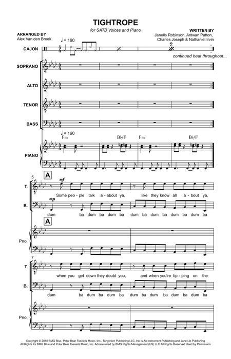 Tightrope SATB with Piano Accompaniment