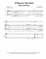 A Place In The Choir (for 2-part choir - (TB)
