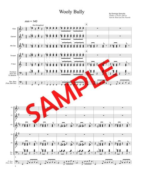 WOOLY BULLY (Sam the Sham & The Pharoahs, 1965) - for pep band, basketball band, jazz combo, small jazz ensemble