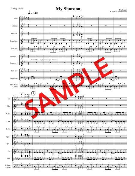 MY SHARONA (The Knack, 1979) - for pep band, basketball band, jazz combo, small jazz ensemble (My Sharrona)
