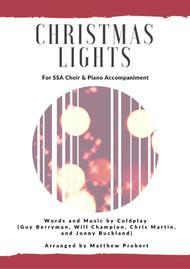 Christmas Lights - Coldplay, for SSA choir & piano accompaniment