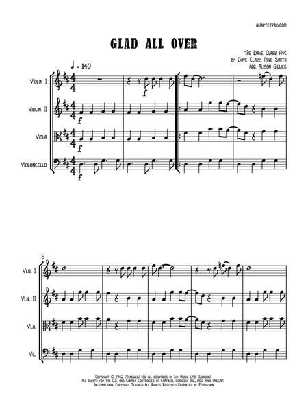 Glad All Over - String Quartet