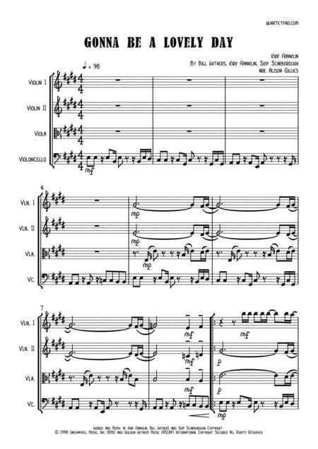 Gonna Be A Lovely Day - String Quartet