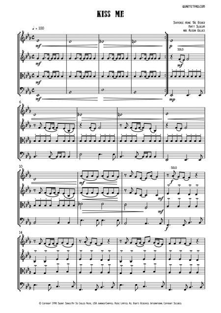 Kiss Me (Sixpence None The Richer) - String Quartet