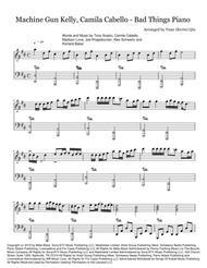 Machine Gun Kelly Camila Cabello Bad Things Piano By Digital Sheet Music For Sheet Music Single Download Print H0 429685 281783 Sheet Music Plus