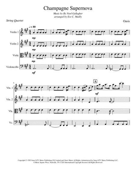 Champagne Supernova - Oasis (Noel Gallagher) (String Quartet)