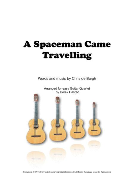 A Spaceman Came Travelling for easy Guitar Quartet