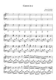 Canon in E minor