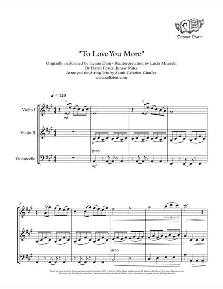 To Love You More - String Trio (2 Violins & Cello) - Celine Dion/Lucia Micarelli arr. Cellobat