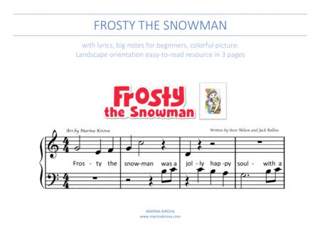 image about Vintage Christmas Sheet Music Printable,frosty the Snowman named Obtain Frosty The Snowman Xmas Track Large Notes Sheet
