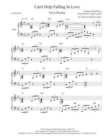 Can't Help Falling In Love (Solo Harp arrangement)