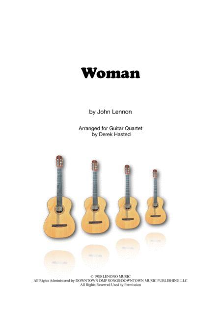 Woman (John Lennon) for 4 guitars
