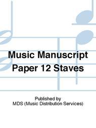 Music manuscript paper 12 staves