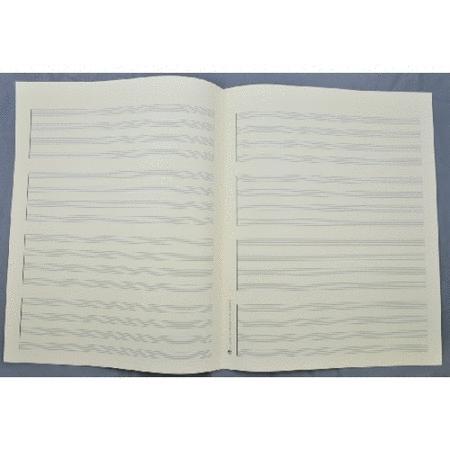 Music manuscript paper - Quartet 4x4 staves