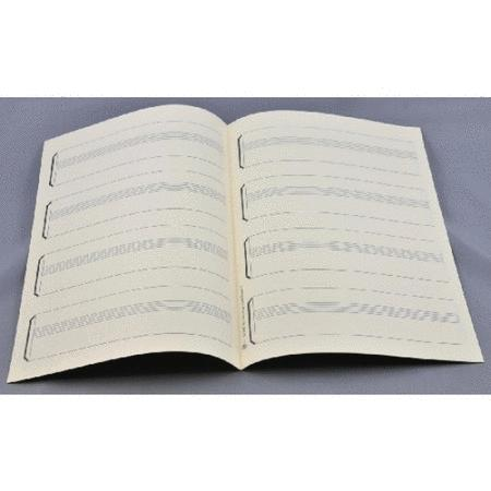 Music manuscript paper 4 keyboard staves