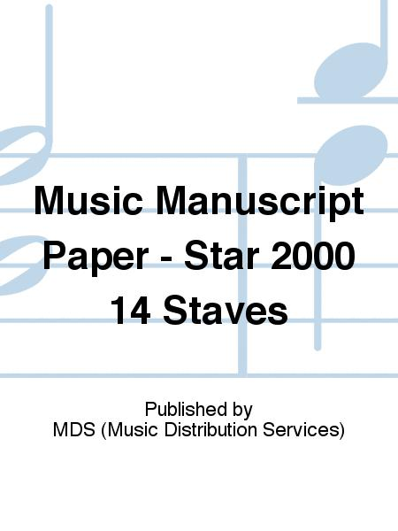 Music manuscript paper - Star 2000 14 staves