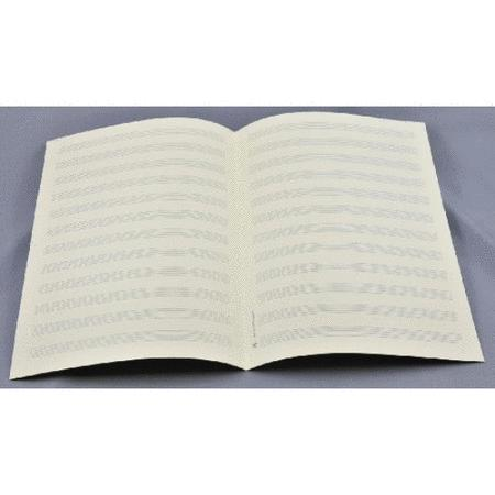 Music manuscript paper 12 staves wide