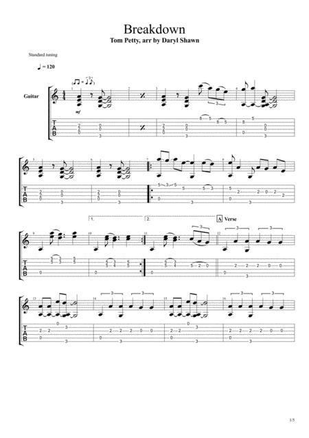 Breakdown, for solo fingerstyle guitar