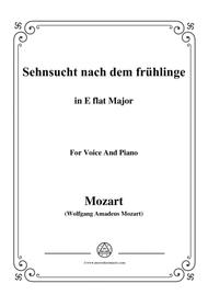 Mozart-Sehnsucht nach dem frühlinge,in E flat Major,for Voice and Piano