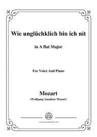 Mozart-Wie unglüchklich bin ich nit,in A flat Major,for Voice and Piano