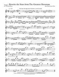 Rewrite The Stars - Greatest Showman - String Quartet, Trio, Duo, or Solo Violin