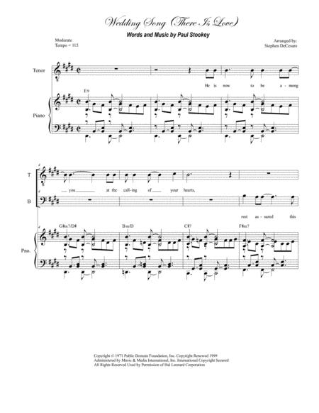 Wedding Song There Is Love For Satb By Peter Paul And Mary Digital Sheet Music For Sheet Music Single Download Print H0 432301 14216 Sheet Music Plus