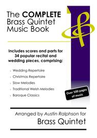 COMPLETE Brass Quintet Music Book - pack of 34 essential pieces: wedding, Christmas, baroque, slow melody, Welsh