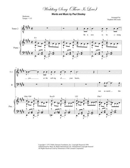 Wedding Song (There Is Love) (for TTB)