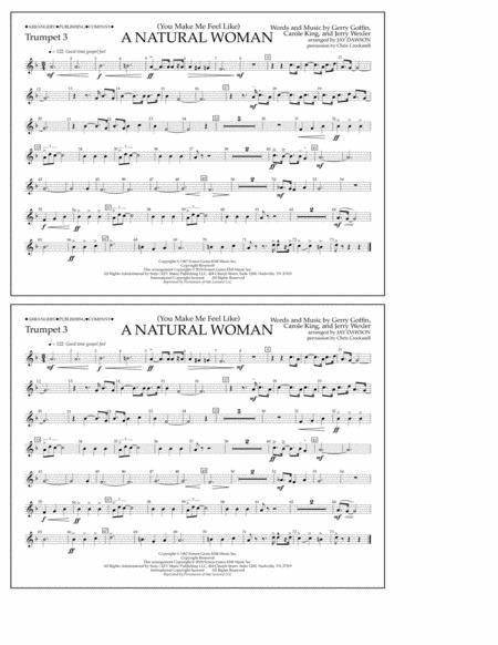 (You Make Me Feel Like) A Natural Woman (arr. Jay Dawson) - Trumpet 3