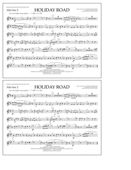 Holiday Road (from National Lampoon's Vacation) (arr. Tom Wallace) - Alto Sax 2