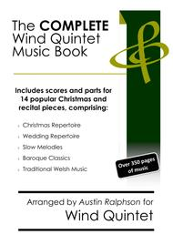 COMPLETE Wind Quintet Music Book - pack of 20 essential pieces: wedding, Christmas, baroque, slow melody, Welsh