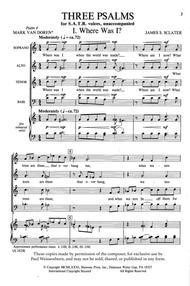 Three Psalms