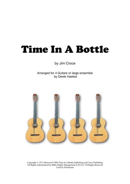 Time In A Bottle for 4 guitars/large ensemble