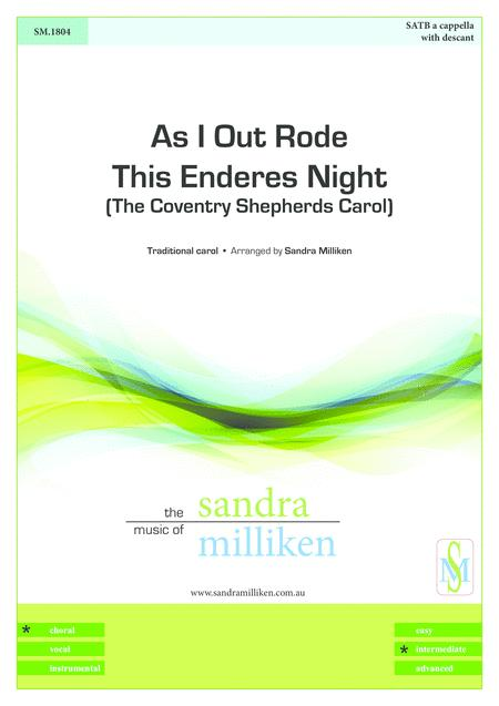 As I Out Rode This Enderes Night (The Coventry Shepherds Carol)