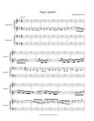 Fuga a quattro voci (4 part fugue) for harpsichord (4 hands and 2 manuals)