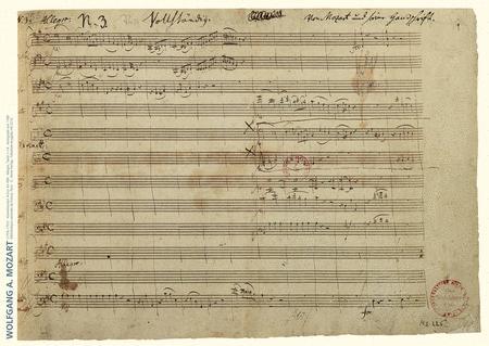 Faksimile Mozart Piano Concerto A major K. 488