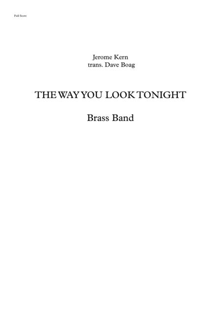 THE WAY YOU LOOK TONIGHT - BRASS BAND