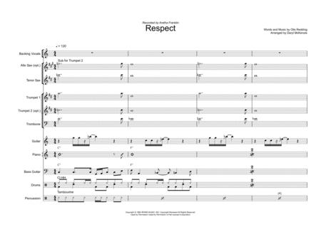 Respect Vocal with Small Band (3-4) Horns Key of C