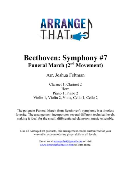 Download Beethoven: Symphony #7, Movement 2 Sheet Music By Ludwig