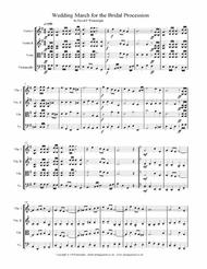 Wedding March for the Procession of the Bride for String Quartet with score, parts & mp3