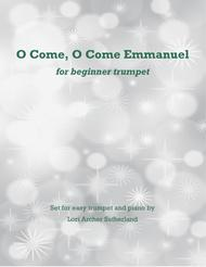 O Come, O Come Emmanuel for beginner trumpet & piano