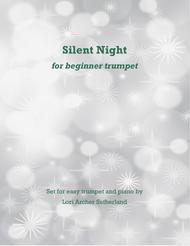 Silent Night for beginner trumpet & piano