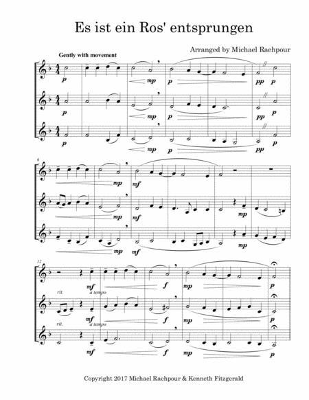 Es Ist Ein Ros' Entsprungen - Trumpet Trio