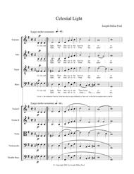 Celestial Light for choir (SATB) and strings or keyboard