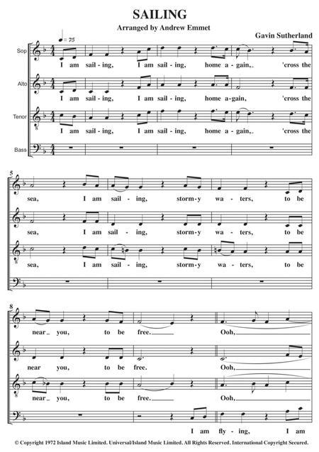 sailing a cappella satb by rod stewart - digital sheet music for score -  download & print h0.434141-sc001288489   sheet music plus  sheet music plus