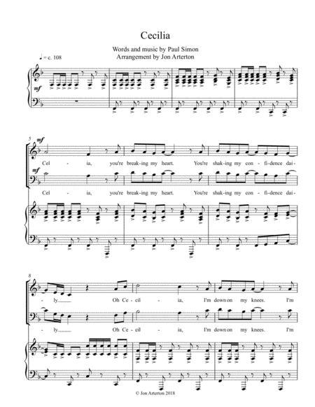Cecilia - SATB & piano