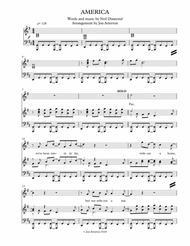 America (Neil Diamond) Alto/High Tenor Solo & SATB