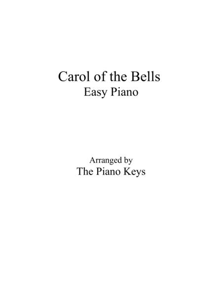 Carol of the Bells Easy Piano
